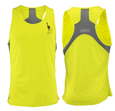 ASICS Men's NYC Marathon Singlet Top, Electric Lime / Frost