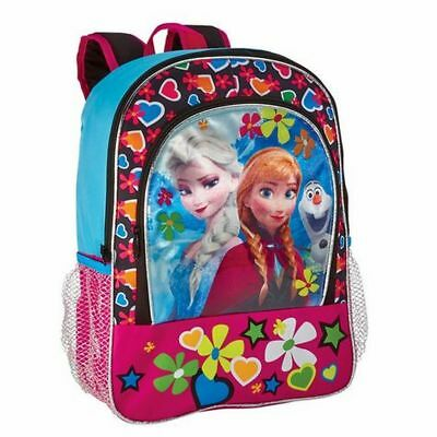 Disney Frozen Backpack Anna & Elsa Sisters With Olaf School Travel Back Pack