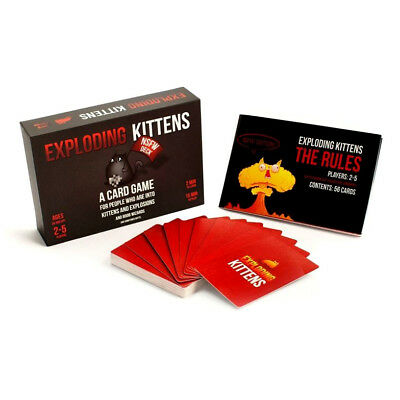 Exploding Kittens NSFW edition Jeu de cartes Explicit Content Card Game Cadeau