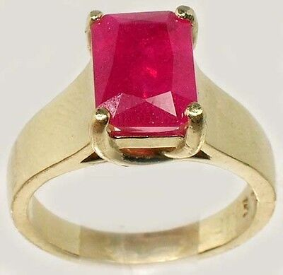 Antique 19thC 3¼ct+ Red Ruby Solid 14kt Gold Ancient Roman Judicial Talisman