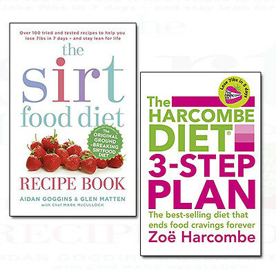 The sirtfood diet recipe book collection 3 books set the sirt diet harcombe diet 3 step plan sirtfood diet recipe 2 books collection set pack new forumfinder Images