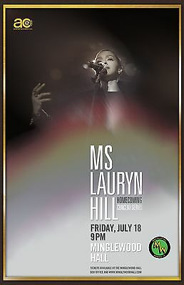 "Lauryn Hill ""homecoming Concert Series"" 2014 Memphis Concert Tour Poster"