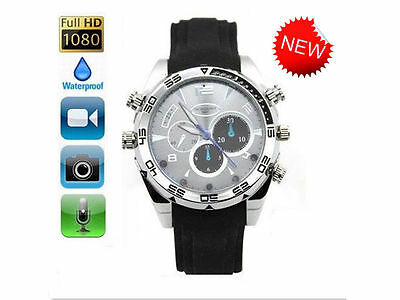 1080p HD 8GB IR Night Vision Spy Hidden Camera watch video Cam Waterproof  W5000