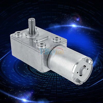 Reversible High Torque Turbo Worm Geared Motor DC 12V Reduction Motor 2-100RPM