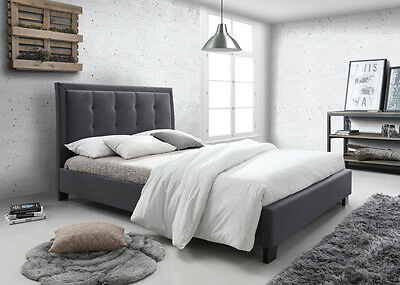 New King Size Bed Frame - Dark Grey(CFF2-7)