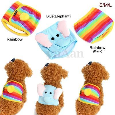 Cartoon Male Pet Dog Belly Wrap Band Diaper Nappy Pants Puppy Sanitary Underwear