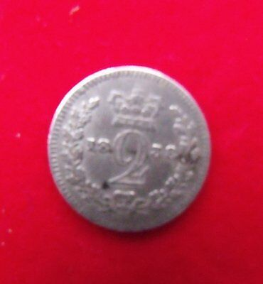 1838 Queen Victoria Silver Maundy Two pence coin .925 Silver British Coin
