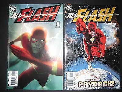 ALL FLASH 1, by WAID + HOST of ARTISTS. SET of BOTH VARIANT COVERS. DC. 2007