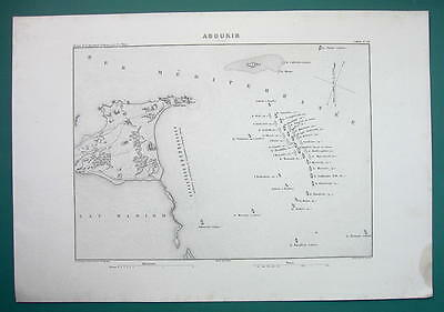 1846 MAP - EGYPT Abu Quir + 1798 Naval Battle of Aboukir