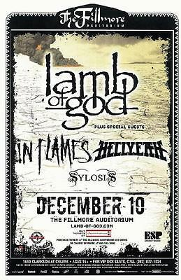 Lamb Of God Hellsyeah Denver 2012 Fillmore Concert Poster Metal