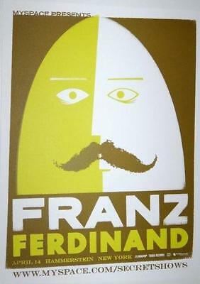Franz Ferdinand New York City 2009 Original Concert Poster Silkscreen