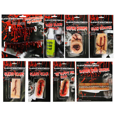 Halloween Scars Bloody Gory Special Fx Blood Spray Necklace Choose Accessory