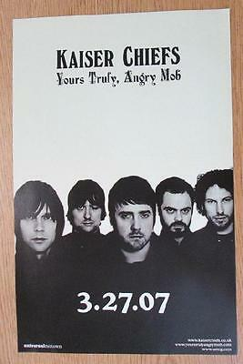 Kaiser Chiefs Yours Truly Angry Mob 2007 Original Promo Poster