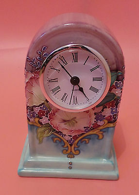 Old Tupton Ware MANTLE CLOCK Amethyst Bouquet Pattern