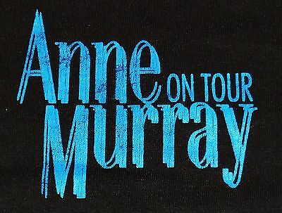 ANNE MURRAY On Tour Black Concert T-Shirt LOCAL CREW Backstage Worker Mens XL