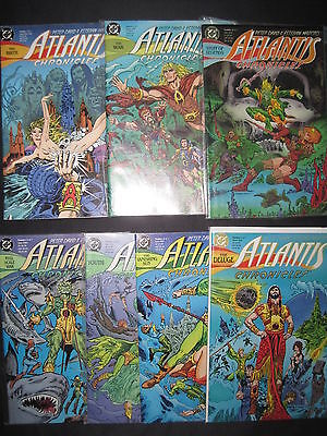 "AQUAMAN :""ATLANTIS CHRONICLES"" COMPLETE 7  ISSUE SERIES by DAVID,MOROTO. DC.1990"