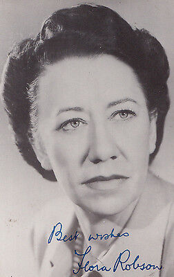 Flora Robson Printed Signed Stunning Old Antique Photo Postcard