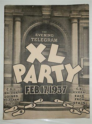 C. H. J. Snider's Xl Party To The Editor Staff The Evening Toronto Telegram 1937