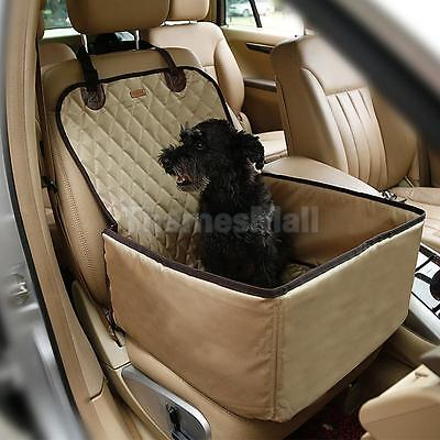 Pet Dog Car Seat Protect Cover Washable Bed Mat Hammock Pad Waterproof Beige