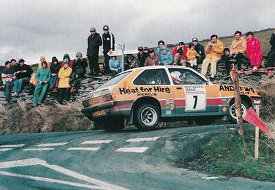 1985 Manx Rally Russell Brooks Mike Broad Winners Success Car Postcard