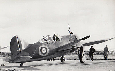 Brewster 339 Buffalo WW2 Plane Military Aircraft War Real Photo Postcard