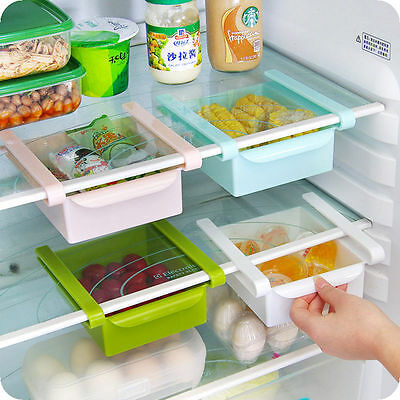 New 4Colors Kitchen Refrigerator Food Fresh Crisper Rack Container Storage Box