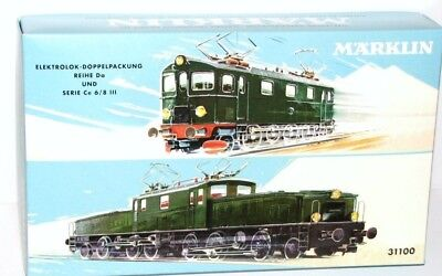 Märklin H0 31100 Empty box the crocodile Double pack with Certificate - NEW