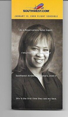 Southwest Airlines System Timetable 1/13/08