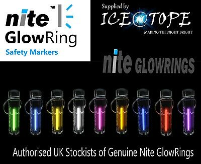GENUINE NITE GLOWRING Glow In The Dark KEYRING TRITIUM ICEATOPE camping tent zip