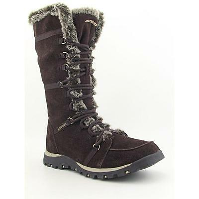 Skechers Grand Jams-Unlimited Women  Round Toe Suede Brown Snow Boot
