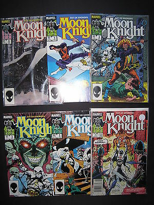"""MOON KNIGHT """"FIST of KHONSHU"""" : COMPLETE 6 ISSUE SERIES.1,2,3,4,5,6. MARVEL.1985"""
