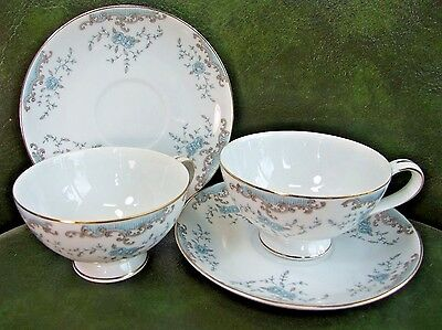 TWO Imperial China SEVILLE Pattern Cup & Saucer Sets 5303 MINT