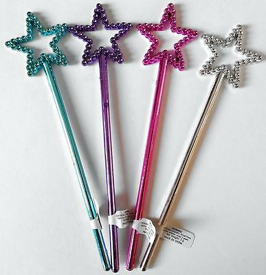 Bulk Lot of 10 Mini Metallic Colored Fairy Wands Girls Party Favor Novelty Toys