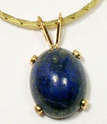 19thC Antique 3 1/3ct Lapis Lazuli Ancient Gem of Heaven Gold Fill Pendant