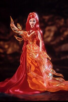 1999 Mattel Barbie Collectibles Limited Edition Dancing Fire Barbie Figure Doll