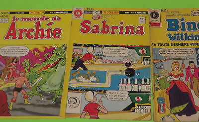 VINTAGE ARCHIE COMICS & bingo #1  LOT OF 3  IN FRENCH FREE SHIPPING LOT11g
