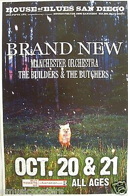 BRAND NEW / MANCHESTER ORCHESTRA 2009 SAN DIEGO CONCERT TOUR POSTER - Alt Rock