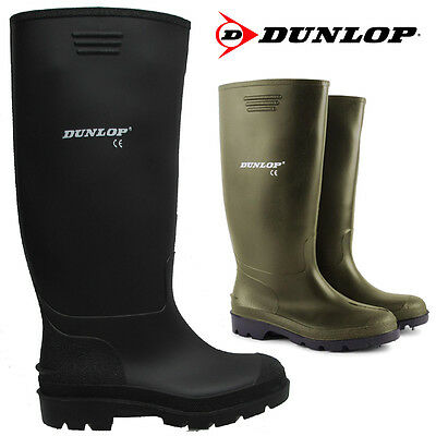 Mens Ladies Dunlop Rubber Waterproof Rain Wellies Festival Wellington Boots Size