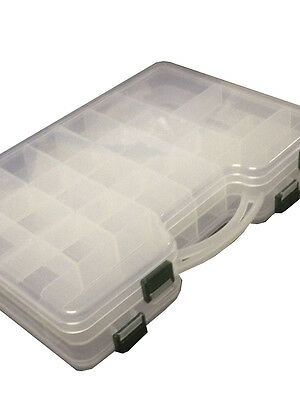 Plastic Storage Box Case Organiser Assorted Compartments Screw Bits Seperator