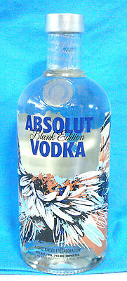 Absolut Vodka Blank Edition 2012 by Dave Kinsey 0,7 Liter neu full and sealed! D