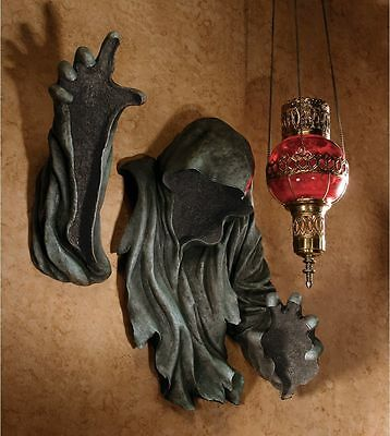 Grim Reaper Hooded Figurine Death is Coming Floating Halloween Wall Sculpture
