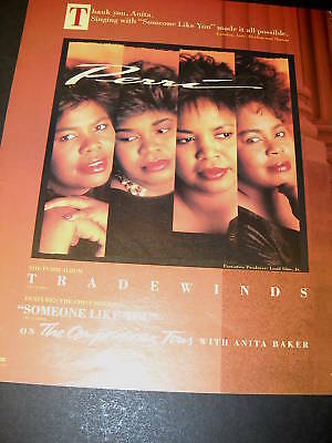 PERRI sisters 1990 PROMO POSTER AD Tradewinds mint cond