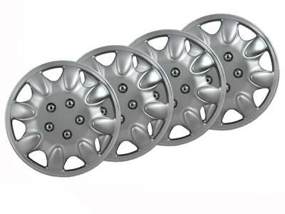 "Brand New Universal 15"" Hub Cap / Wheel Trim Covers Set Caps"