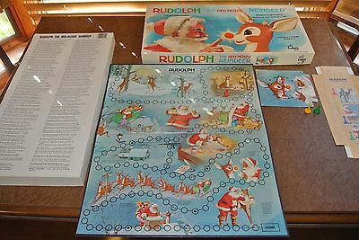 Rudolph the Red Nosed Reindeer Board Game Cadaco #555 1977 Vintage Christmas