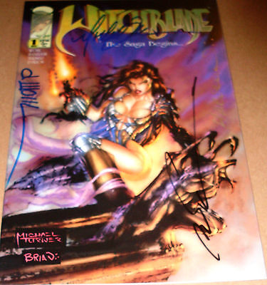 Witchblade #1 SIGNED Michael Turner Marc Silvestri Wohl Haberlin 1st print 1995