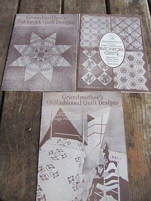 Vintage 1931-32 Grandmother's Quilt Patterns Magazines-3-Original-Very Nice