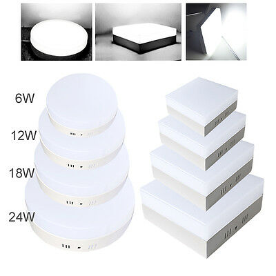 6/12/18/24W Modern LED Recessed Ceiling Fixture Panel Light Bulb Cool White Lamp