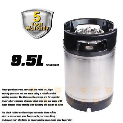 stainless steel PREMIUM BRAND NEW 9.5 L BALL LOCK KEG  home brew  PARTY