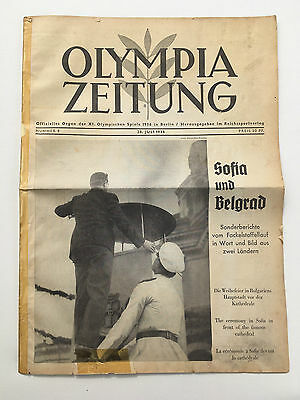 28.07.1936 OLYMPIA ZEITUNG Number 8 - Olympic Games Berlin 1936