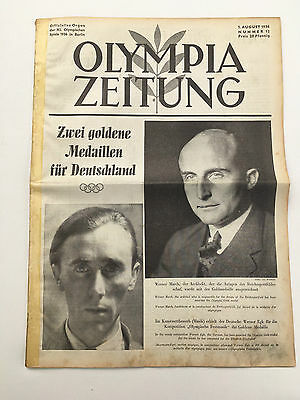 01.08.1936 OLYMPIA ZEITUNG Number 12 - Olympic Games Berlin 1936